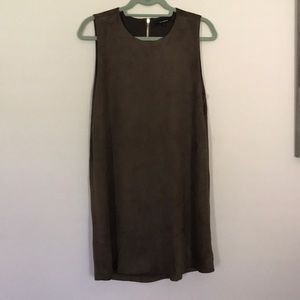 Olivacious Suede dress